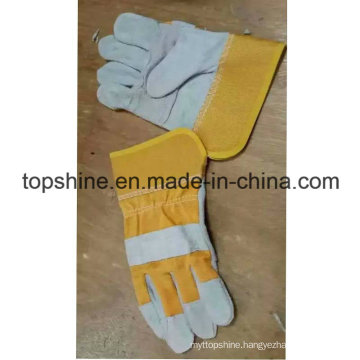 China Professioanl Labor Industrial Safety Cowhide Split Leather Gloves