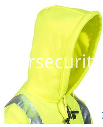 Men's Lime Green High-Visibility Hooded Sweatshirt (3)
