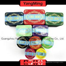 Conjunto de fichas de poker de corvo de alta qualidade (760PCS) Ym-Lctj002