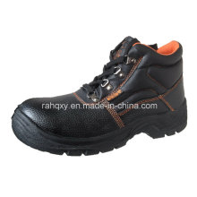 Popular MID-Cut Orange Stitching Safety Shoes (HQ01011)