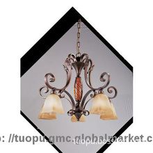 Ancient Style European resin chandelier lamp shades with Hand-paint