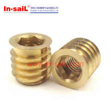 Self-Tapping Brass Nut Used in Wooden Furniture