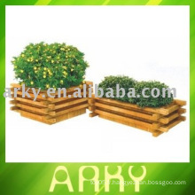 Pot de fleurs en bois en bois