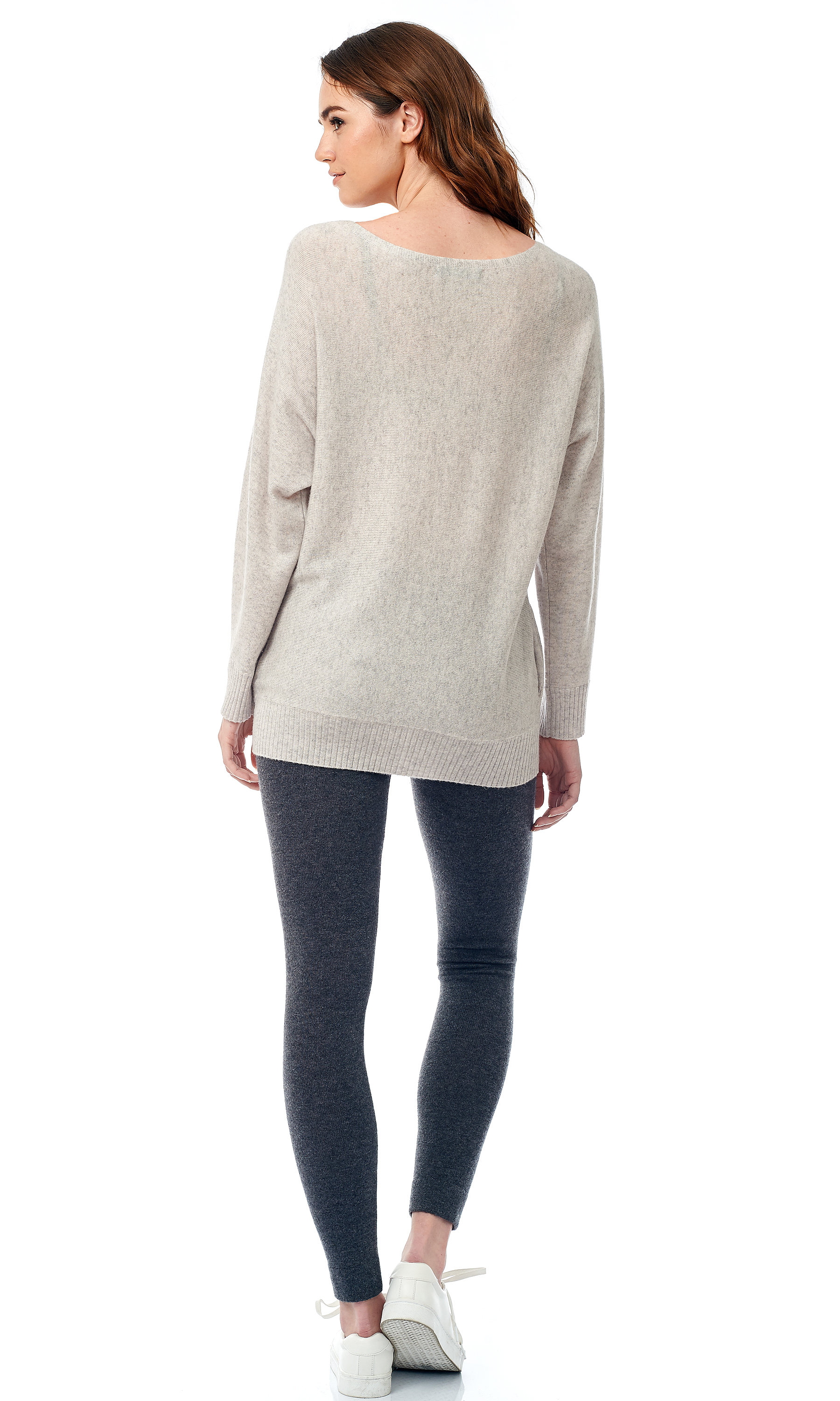 welt knit pullover back