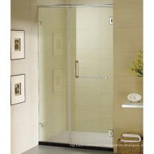 Porte de douche demi-châssis en laiton massif à charnière américaine