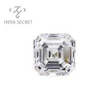 ForeverFlame  G H  Asscher Cut diamond CVD CZ Moissanite