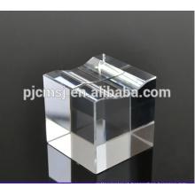 Bloco de cristal em branco barato da base do cubo de cristal para a gravura