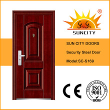 Cheap Exterior Steel Door, Galvanized Steel Door Frame (SC-S169)