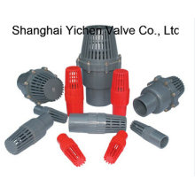 "Js 3/4""- 8"" Inch Plastic Ball Foot Valve"