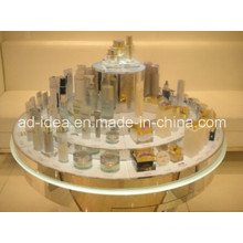 Round Acrylic Display Rack / Cake Shaped Display for Cosmetic Promotion