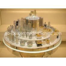Круглый акриловый Дисплей стойки / торт в форме отображения для косметического Промотирования