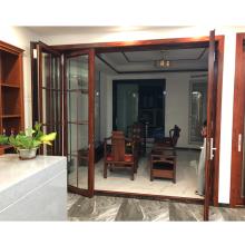 China supplier aluminium ykk folding door  powder coated size customized aluminum alloy door and window water exterior door