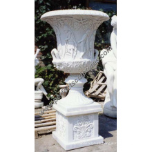 Stone Marble Flower Pot for Garden Decoration (QFP030B)