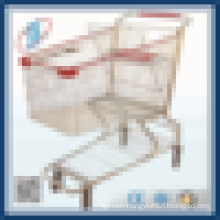 Chrome supermarket Shopping cart trolley with baby seat