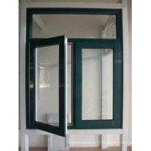 Fenêtre à double vitrage en aluminium vitré à faible émissivité