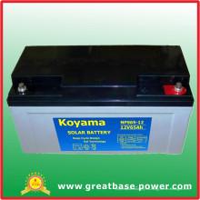 Batería marina del almacenamiento de la batería del gel del ciclo profundo de 65ah 12V Batería marina del poder de la batería