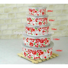 design completo flor esmalte planus tigela de gelo e tigela de sorvete