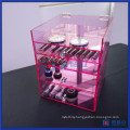 China Manfuacturer Custom Pink 5 Tier Acrylic Makeup Organizer