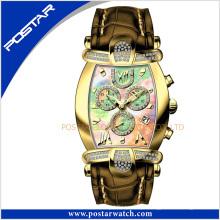 Psd-2326 personalizou o relógio de pulso mecânico automático das senhoras da forma com qualidade suíça