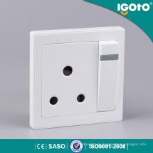 Interruptor de pared y zócalo británico estándar 15A