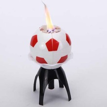 Football Design Music Rotating Candle