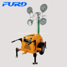 Industrial Emergency Trailer Mobile Light Tower For Outdoor