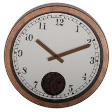 Retro 12 Inches Rustic Gear Reloj de pared