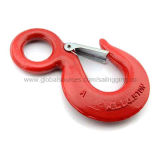 Chain Eye Slip Hook, Made of Carbon/Alloy Steel, Red or Galvanized SurfaceNew