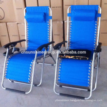 Adjustable position folding deck chair