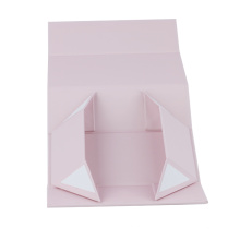 Custom paper flat packing boxes , luxury small rigid magnetic box with closure
