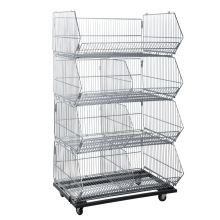 Supermercado Múltiples Capas Wire Display Basket Cage
