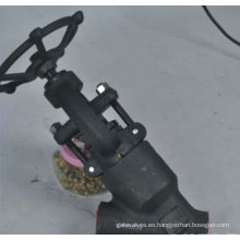 Llave de engranaje de gusano de acero forjado Bellows Globe Valve