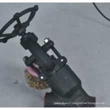 Levier en acier forgé de levier de vitesse d'engrenage à vis sans fin