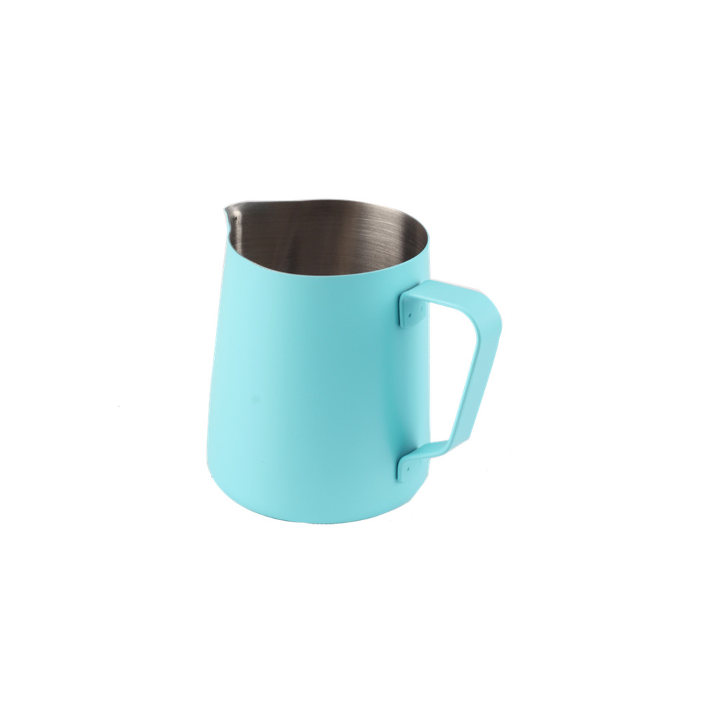 Human Mechanics Handle Design Sky Blue Milk Jug