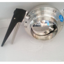 Food Grade Stainless Steel Weld Butterfly Valve