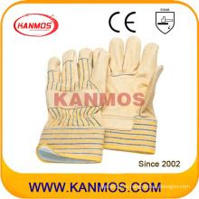 Яловичная кожа из натуральной кожи с подкладкой из искусственной ткани Зимние рабочие перчатки (12302)