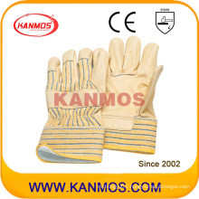 Cowhide Grain Leather Jersey Lining Industrial Safety Warm Winter Work Gloves (12302)