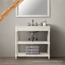 Fed-1993 Marmor Top Holz Badezimmer Vanity Cabinet