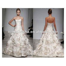Strapless Dropped Waist Sweetheart Neckline AMSALE BIJOU Wedding Dress