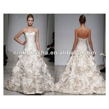 Strapless Dropped Waist Sweetheart Neckline AMSALE BIJOU Wedding Dress