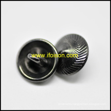 Fashion Shank Button in Shiny Gun Metal color