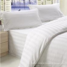 King Size Streifen Design Baumwollgewebe Bettwäsche