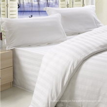 King Size Stripe Design Lençol de algodão Folha de cama