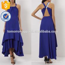Новая мода яркий фиолетовый асимметричная Миди Производство Оптовая продажа женской одежды (TA5221D)