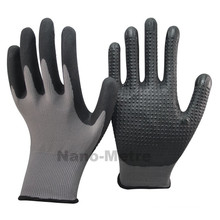 NMSAFETY Nitrile gloves/Nylon Micro foam nitrile glove with dots on palm