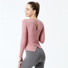 Haut d'entraînement à dos ouvert Chemises Haut de yoga