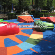 Suelos de goma decorativos, pisos de seguridad para jardín de infantes