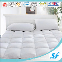 4-6cm White Goose Down and Feather Filled Mattress Topper