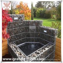Cages soudées de Gabion / maille soudée de Gabion pour le jardin