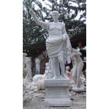 Sculpture en pierre sculptée en pierre de marbre en statue de césar pour jardin (SY-X1181)